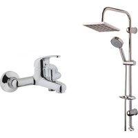 Eczacıbaşı Artema Punto İdeo Banyo Bataryası + Modamix Moskow Tepe Duş Seti