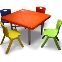 Binbirreyon Çocuk Masa Sandalye Seti Ders Çalışma Ve Yemek Masası Aa056