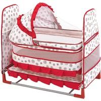 Happy Baby Class Desenli Toy Beşik (Kırmızı - Beyaz)