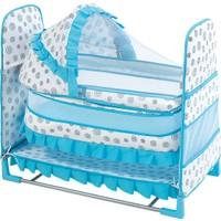 Happy Baby Class Desenli Toy Beşik (Mavi.Beyaz)