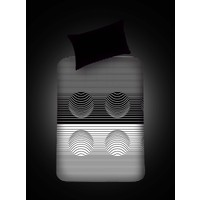 Eponj Home B&W Lastikli Çarşaf Seti Tek Kişilik Hypnose