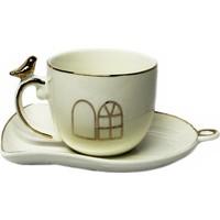 Acar Porselen Kafes Modelli Türk Kahvesi Fincan Takımı