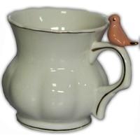 Kuş Figürlü Porselen Kupa Bardak