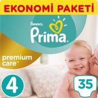 Prima Bebek Bezi Premium Care 4 Beden Maxi Ekonomi Paketi 35 Adet