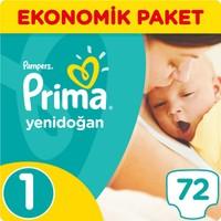 Prima Bebek Bezi Yeni Bebek 1 Beden Yenidoğan Ekonomik Paket 72 Adet