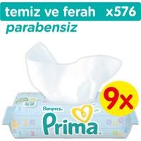 Prima Islak Havlu Temiz ve Ferah 9'lu Fırsat Paketi (576 Yaprak)