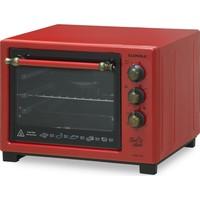 Luxell LX 8589 Tini Mini Turbo Mini Fırın Kırmızı Rustik