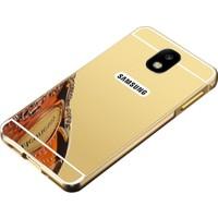 Case 4U Samsung Galaxy J730 J7 Pro Kılıf Aynalı Metal Arka Kapak Altın