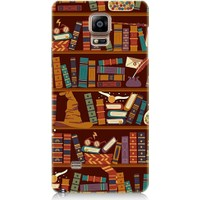 Teknomeg Samsung Galaxy Note 4 Büyü Kitaplığı Desenli Silikon Kılıf