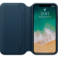 Apple iPhone X Deri Folio KozmosMavisi MQRW2ZM/A