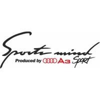 Otografik - Audi A3 Sports Mind Oto Sticker 30 cm x 11 cm Siyah