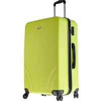 TUTQN Kırılmaz Plastik Bavul Büyük Boy Valiz %100 PP Yeşil