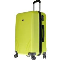 TUTQN Kırılmaz Plastik Bavul Orta Boy Valiz %100 PP Yeşil