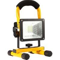 Odalight 20 W Taşınabilir Şarjlı Led Projektör Beyaz Işık