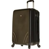 Tutqn Kırılmaz Plastik Bavul Siyah Orta Boy Valiz %100 Pp