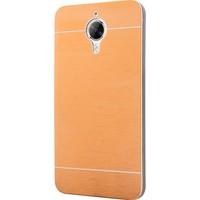 Case 4U General Mobile Gm5 Plus Motomo Metal Kılıf + Temperli Cam Ekran Koruyucu Altın