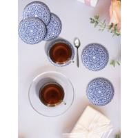 Keramika Mantar Bardak Altlıgı Osmanlı 6Lı