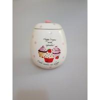 camsa Cupcake Büyük Boy Baharatlık -Şekerlik-Tuzluk-Çay Kabı(14030 )