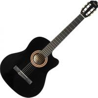 Valencia VC104TCBK Siyah Cutaway Klasik Gitar 4/4 (Sap Çelik+Kılıf)