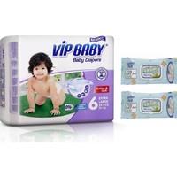 Vip Baby Active&Soft 6 Numara Extra Large 25 Adet Bebek Bezi + Islak Mendil