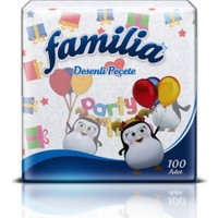 Familia Desenli Peçete 100 'lü kk
