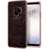 Spigen Samsung Galaxy S9 Kılıf Liquid Crystal Glitter Rose Quartz - 592CS22832