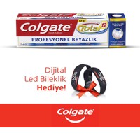 Colgate Diş Macunu Total Profesyonel Beyazlık 75 ml + Dijital Led Bilekli
