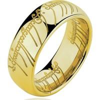Chavin Yüzüklerin Efendisi Gold Bayan Erkek Çelik Yüzük Cm11Sr