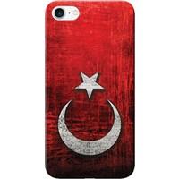 Kılıf Merkezi iPhone 8 Kılıf Silikon Baskılı Türk Bayrağı Tasarım STK:383