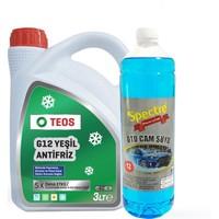 Teos -40 Yeşil Antifiriz 3 Litre + Cam Suyu 1 Litre