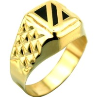 Kuyumcunuz Altın Gösterişli Erkek Şovalye Yüzüğü (14 Ayar)