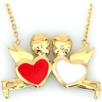 Kuyumcunuz Altın Melekli Kalp Sevgili Kolyesi (14 Ayar)