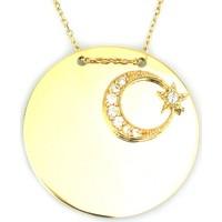 Kuyumcunuz Altın Plaka Türk Bayraklı Ay Yıldız Kolye (14 Ayar)