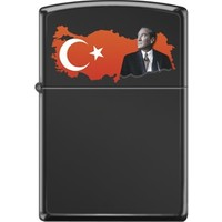 Zippo Ataturk-Turkish Map-Top Çakmak