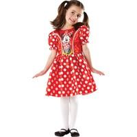 Lisanslı Minnie Puantiyeli Kırmızı Kostüm L Beden 7-8 Yaş