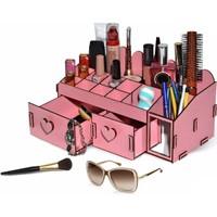 Ahşap Şehri Özel Tasarım Ahşap Kozmetik Organizer