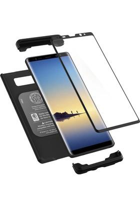 Spigen Samsung Galaxy Note 8 Kılıf Signature Thin Fit 360 Koruma Black (Cam Ekran Koruyuculu) - 587CS22098