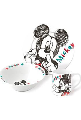 Disney Mickey Porselen 3'lü Beslenme Seti