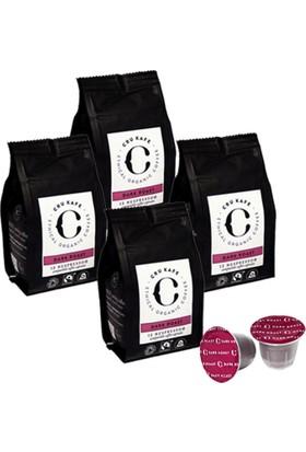 Crukafe 48 Adet Nespresso® Uyumlu Organik Kapsul Kahve - Dark (Sertlik: 9) 4 Paket Kapsül Kahve