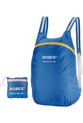 Romix Taşınabilir ve Katlanabilir Sırt Çantası- Mavi