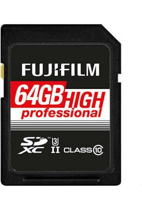 Fujifilm 64GB SDHC Class 10 UHS2 Profesyonel Hafıza Kartı