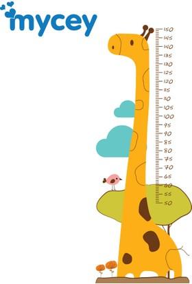 Mycey Boy Ölçer Sticker / Zürafa Arkadaşım