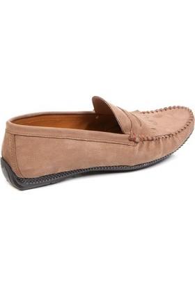 Deristudio Nst110 Vizon Nubuk Erkek Günlük Ayakkabı