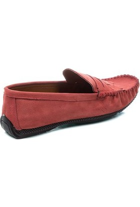 Deristudio Nst110 Kırmızı Nubuk Erkek Günlük Ayakkabı