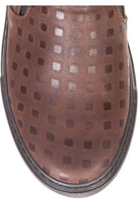 Deristudio Cnk3200 Kahve Desenli Kadın Günlük Ayakkabı