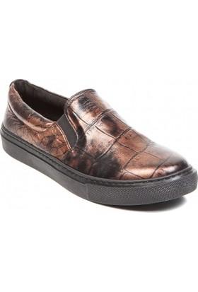 Deristudio Cnk3200 Bronz Kadın Günlük Ayakkabı