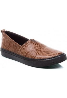 Deristudio Cnk3450 Taba Yılan Kadın Günlük Ayakkabı