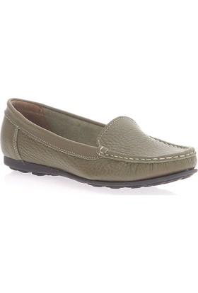 Deristudio Dst705 Olıv Kadın Günlük Ayakkabı