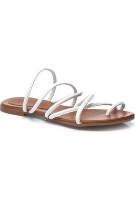 Deristudio Yb9048 Beyaz Kadın Sandalet