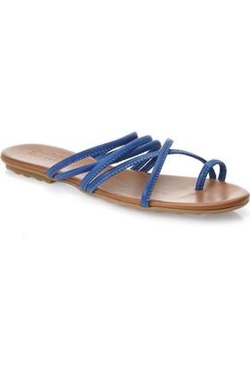 Deristudio Yb9048 Sax Mavi Kadın Sandalet